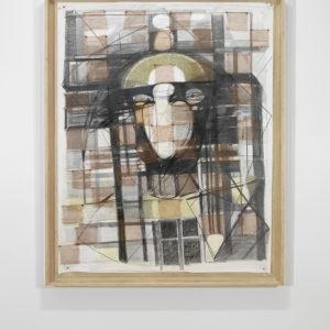 Untitled, 1984-1990, Graphite, pastels, copper on paper 188 x 150 cm (framed: 205,5 x 167 cm)
