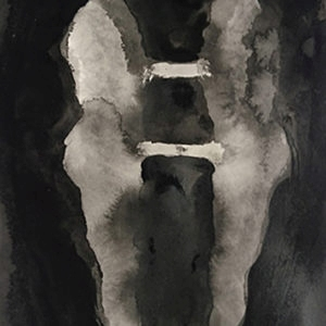 Corps a Corps , 2016, Acrylic on paper, 40 x 18 cm