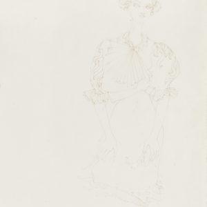 Christiana SOULOU, Figure, 2015, Colour pencil on paper, 71 x 50 cm