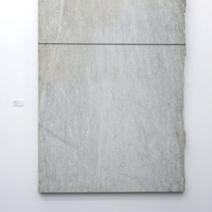 Giovanni ANSELMO, Untitled 1990, Granite Verde Argento, canvas, cable, slip-knot, 200 x 139 x 6,5 cm