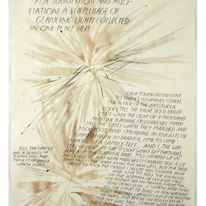 Raymond PETTIBON, Untitled (For Suggestion and..) 1992, Ink and pen on paper, 56 x 43 cm (framed: 66 x 53,5 cm)