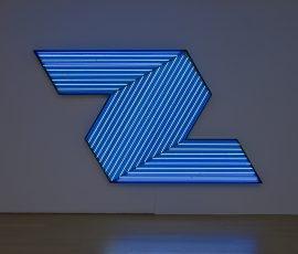 """IFFAFA 3"", 2010, Neon tubes on aluminum frame, 200 x 350 x 15 cm"