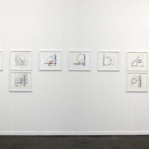 """Einstein on the beach"", 2018, Pencil, ink on paper, each: 35 x 43 cm, 46 x 52 cm framed"