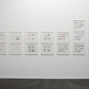 """Einstein on the beach"", 2018 | Pencil, ink on paper, each: 35 x 43 cm, 46 x 52 cm framed"