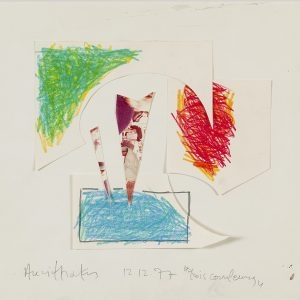 Alexis AKRITHAKIS, Untitled, 1977, Mixed media on paper, 29 x 42 cm