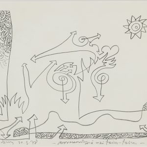 Alexis AKRITHAKIS, Untitled, 1978, Graphite on paper, 29 x 42 cm