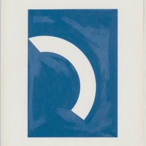 "Stephen ANTONAKOS, ""Fragment of a Circle"", 1976, Colored pencil on paper, 35,5 x 28 cm"