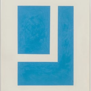 "Stephen ANTONAKOS, ""Fragment of a Square"", 1976, Colored pencil on paper, 35,5 x 28 cm"