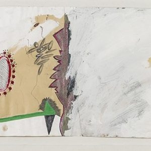 Michael BUTHE, Untitled, 1980, Mixed media on paper, 36 x 102 cm