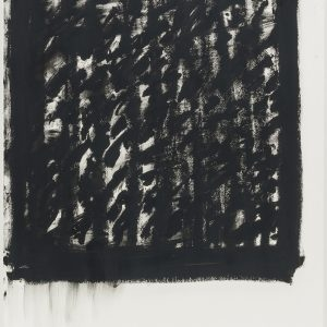 Jannis KOUNELLIS, Untitled (III), 1996, Oil stick on paper, 100 x 70 cm