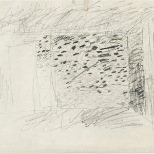 Jannis KOUNELLIS, Untitled, 1985, Pencil on paper, 23,5 x 32,5 cm