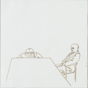 Juan MUÑOZ, Untitled, 1993, Pencil & ink on white paper, 50 x 50 cm