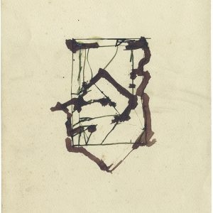 Untitled, 1985, Coloured ink on paper, 29,5 x 22,7 cm