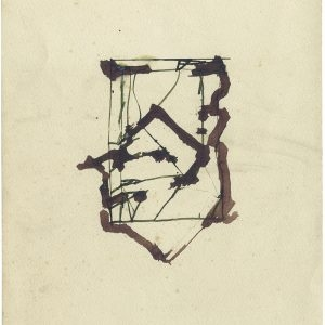 Brice MARDEN, Untitled, 1985, Coloured ink on paper, 29,5 x 22,7 cm