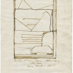 Brice MARDEN, Untitled , 1977, Coloured ink on paper, 30 x 19 cm