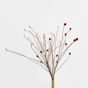 """""""Bouquet"""", 2020, Brass, Centaurea of Salamanca, sealing wax, 60 x 40 x 50 cm"""
