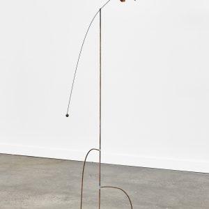 """Vessel"", 2020, Wolf Puff, Steel, 115 x 90 x 30 cm"