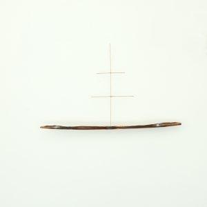 """Ship Ship Ship"", 2020, Copper, Brass, Silver, 51 x 6 x 82 cm"