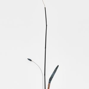 """Agrigri"", 2020, Copper, Brass, Steel, Bamboo, 110 x 21 x 32 cm"