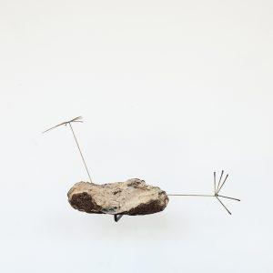 """""""Loupe"""", 2020, Wood, Steel, Brass, Silver, 30 x 43 x 60 cm"""