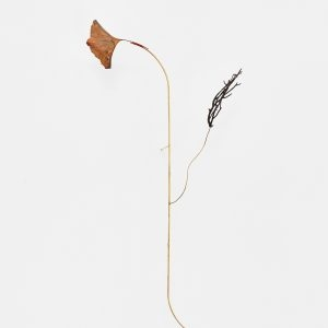 """Nota Bene"", 2020, Copper Plated Sheet, Roots, Brass, Silver , 50 x 12 x 24 cm"