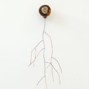 """Andromède"", 2020, Citrus, Copper, Steel, Silver, 40 x 12 x 15 cm"