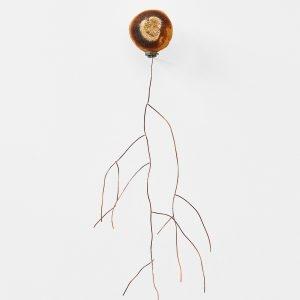 """Andromède"", 2020, Citrus, Copper, Steel, Silver , 40 x 12 x 15 cm"