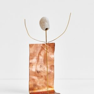 Untitled, 2020, Copper, Brass, Pebble, 25 x 9 x 16 cm