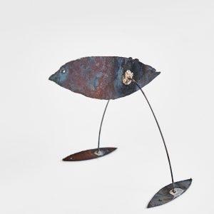 """""""Moineau"""", 2020, Brass, Steel, 10 x 10 x 12 cm"""