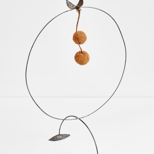 """Bourboule"", 2020, Steel, Magnets, Seeds, 35 x 27 x 19 cm"