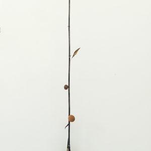 """Oranger"", 2020, Magnet, Oak, Brass, Bamboo, Calabash, Citrus, Steel, 300 x 37 x 18 cm"