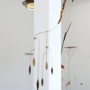 """""""Dino"""", 2020, Brass, Root, 65 x 30 x 1 cm"""