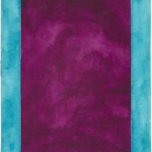 Untitled (Violet mirror), 2015, Watercolour on paper, 31 x 23 cm (framed: 46 x 38,5 cm)