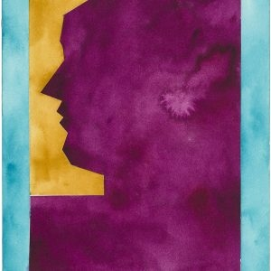Untitled (Profile), 2015, Watercolour on paper, 31 x 23 cm (framed: 46 x 38,5 cm)