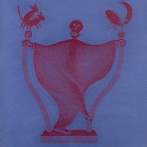 """""""Η Μάσκα του Κόκκινου Θανάτου / The Mask of Red Death"""", 2019, Colour pencil on paper, 100 x 88 cm"""