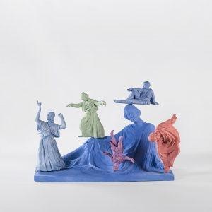 """""""Το Όνειρο της Ισαδώρας / Isadora's Dream"""" , 2018, Ceramic, 57 x 77 x 33 cm"""