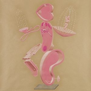 """Kα Τζακούζη/ Mrs. Jacuzzi"", 2020, Colour pencil on paper, 100 x 88 cm"