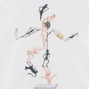 """""""Φωσκιά/ Luceombra"""", 2020, Colour pencil on paper, 100 x 88 cm"""