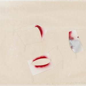 Mario MERZ, Untitled (per Barbarrararararara), 1991, Mixed media and collage on paper, 75 x 107,5 cm