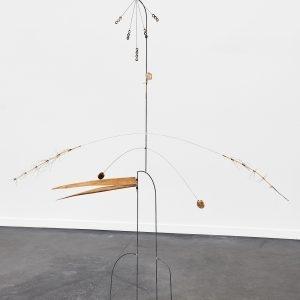 """L'oiseau de paradis"", 2020, Magnet, Oak, Brass, Steel, Flowers, Plants, 190 x 160 x 60 cm"