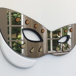 Rallou PANAGIOTOU Lost in ABC ( Athenaeum Venice), 2019, Marble, lacquered wood, and mirror, 45,5 x 103,5 x 6 cm