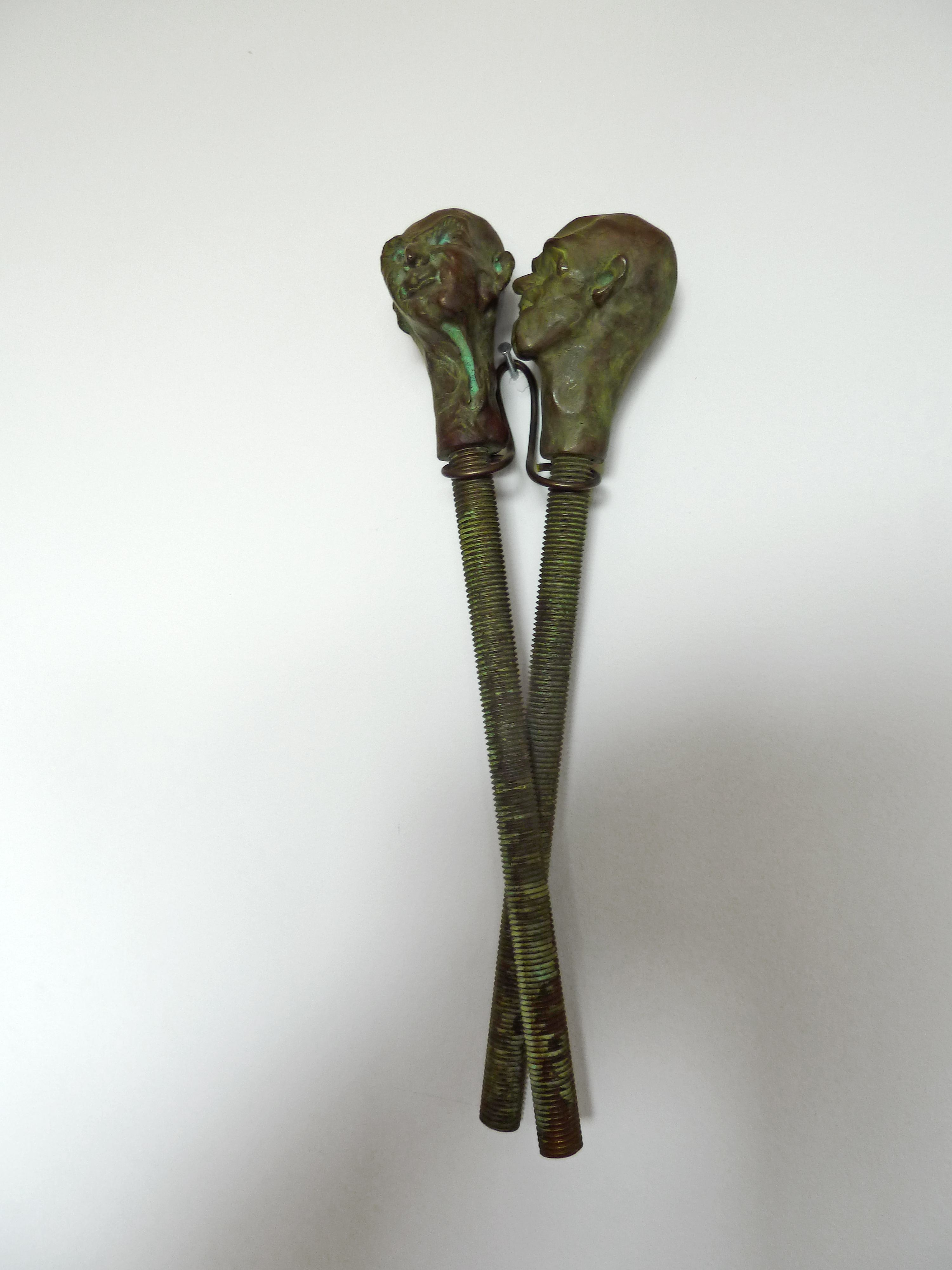 Thomas SCHÜTTE, United Enemies, 1997, Bronze, steel, copper, Edition 6 of 10 +2AP, 34x 5 x 6 cm