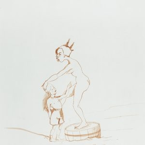 detail from: Kara WALKER, Untitled, 1995, Sepia on paper, 30,5 x 23 cm