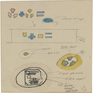 "Lawrence WEINER, ""Mais"", 1987, Paint and ink on paper , 20 x 20 cm"