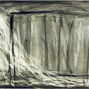 "Robert WILSON, ""Hamlet Machine,Prologue (002) 9/9/1986"", 1986, Charcoal,color pencil on paper , 51,5 x 71,5 cm"