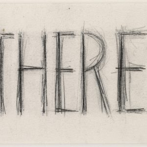"Robert WILSON, ""A letter to Queen Victoria (There & HM)"", 1973, Graphite on paper, 13 x 19 cm"