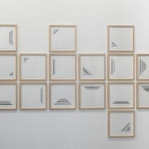 """""""Threepenny Opera"""", 2018, Pencil, ink on paper, each: 35 x 43 cm, 46 x 52 cm framed"""